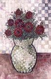 Di arte vita ancora con il vaso di fiore Immagine Stock Libera da Diritti