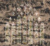 Di arti artistico del vetro macchiato della cattedrale di pozzi Fotografie Stock