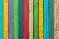 di assi del pavimento di legno colorate Multi Fotografie Stock Libere da Diritti