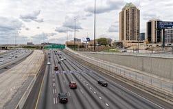 Di Atlanta scambio da uno stato all'altro il 75 e il 85 fotografia stock libera da diritti