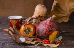 Di autunno lifes ancora con le zucche Fotografie Stock