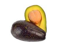 Di avocado isolato su fondo bianco Fotografia Stock Libera da Diritti