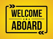 Di benvenuto messaggio della carta da parati a bordo - Immagine Stock Libera da Diritti
