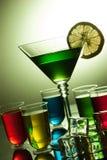 di bevande colorate Multi dell'alcool Immagine Stock