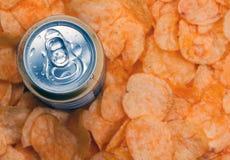 Di birra e delle patatine fritte Fotografia Stock Libera da Diritti
