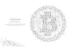 Di Bitcoin poli gray in basso Fotografie Stock