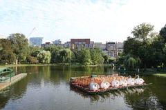 DI BOSTON IL 10 SETTEMBRE: Lago comune del giardino pubblico di Boston in Massachusett Immagini Stock Libere da Diritti
