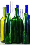 di bottiglie colorate Multi di vino isolate su fondo bianco Immagini Stock Libere da Diritti