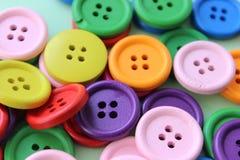 di bottoni di legno colorati Multi Fotografia Stock Libera da Diritti
