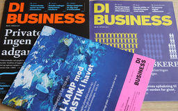 DI BUSINESS MAGAINE Royalty Free Stock Images