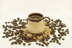 Di caffè della tazza vita ancora Fotografie Stock