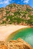 Di Cala Li Cossi de Spiaggia, Costa Paradiso Foto de Stock Royalty Free