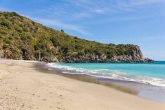 Di Camerota Spiaggia di Марины, Salerno, Италия Стоковое Фото