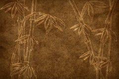 Di carta invecchiato con il reticolo di bambù Fotografia Stock