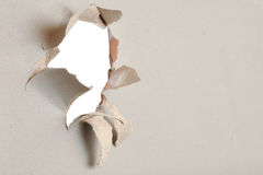 Di carta violento - cartone grigio Immagini Stock