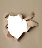 Di carta violento - cartone grigio Immagine Stock
