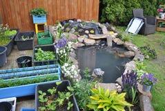 Di casa giardino in Norvegia Immagini Stock