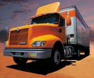 Di colore giallo camion semi Fotografia Stock
