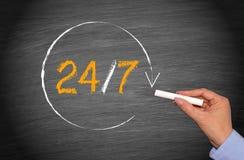 24/7 di concetto di affari Fotografia Stock