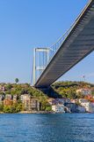 Di Costantinopoli ponte in secondo luogo Bosphorus Fotografia Stock