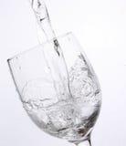 Di cristallo con acqua Fotografia Stock
