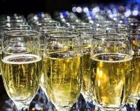Di cristallo con champagne Fotografia Stock Libera da Diritti