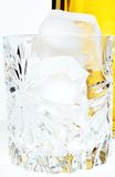 Vetro con ghiaccio Fotografie Stock