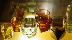 Di cristallo nelle vetrate di Moser Fotografia Stock Libera da Diritti