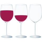 Di cristallo, vino rosso ed occasioni speciali Royalty Illustrazione gratis
