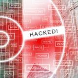 Di Cybersecurity del pirata informatico illustrazione cyber di attacchi 3d online illustrazione vettoriale
