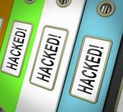 Di Cybersecurity del pirata informatico illustrazione cyber di attacchi 3d online illustrazione di stock
