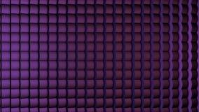 Di Digital ciclo perfettamente delle linee verticali della tonalità porpora astratta che muovono animazione del fondo Bande commo Fotografia Stock