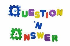 Di domande e risposte Fotografia Stock Libera da Diritti