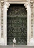 di Duomo entrace fasada Milano Obraz Royalty Free