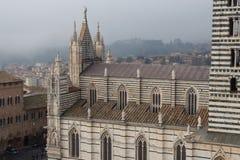 di duomo siena Sikt från facciatonen Tuscany italy Arkivfoto