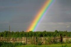 di estate dopo una pioggia nel villaggio Fotografia Stock Libera da Diritti