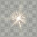 Di facile impiego Effetto della luce speciale del chiarore della lente di luce solare ENV 10 illustrazione vettoriale
