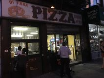 Di Fara Pizza In Brooklyn, New York. stock image
