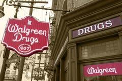 Di farmacia di Walgreen della replica Fotografia Stock Libera da Diritti