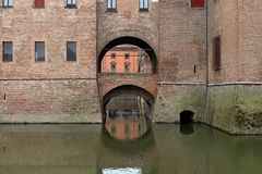 Di Ferrara di Castello Estense del castello di Este fotografia stock libera da diritti