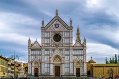 di florence santa croce базилики Ii главным образом францисканская церковь в Флоренсе, Италии стоковые изображения