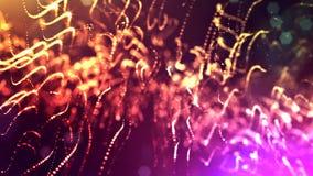 di fondo colorato multi 3d con le particelle luminose fantastiche Animazione avvolta 3d con profondità di campo, effetti della lu video d archivio