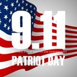 9/11/01 di fondo del giorno del patriota, bandiera americana barra il fondo illustrazione vettoriale