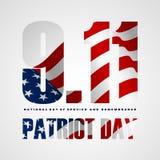 9/11 di fondo di giorno del patriota, patriota giorno 11 settembre 2001 illustrazione vettoriale
