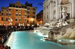 di Fontana fontanny trevi włochy Rzymu Zdjęcia Stock