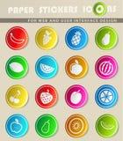 Di frutti icone semplicemente Fotografia Stock