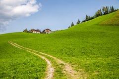 Di Funes - Больцано Val, южный Тироль, Италия стоковая фотография rf