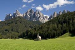Di Funes Sankt-Maddalena lizenzfreies stockfoto