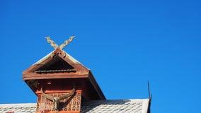 ` Di Galae del ` delle case ricoperte di paglia del tetto in Tailandia del Nord Immagine Stock
