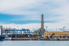 Di Genova di Lanterna fotografia stock
